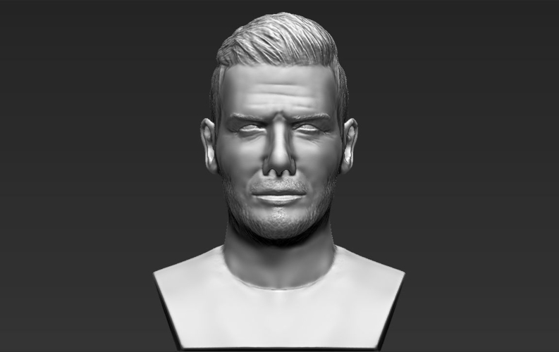 David Beckham bust ready for full color 3D printing 3D Print 231631