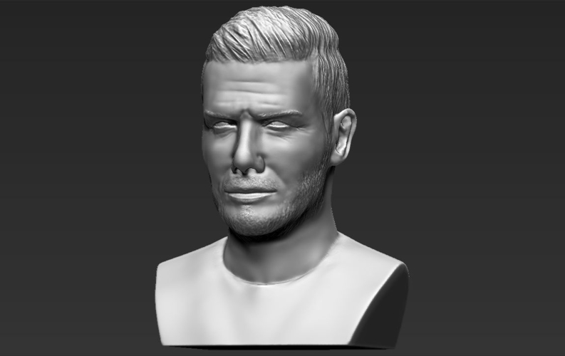 David Beckham bust ready for full color 3D printing 3D Print 231632