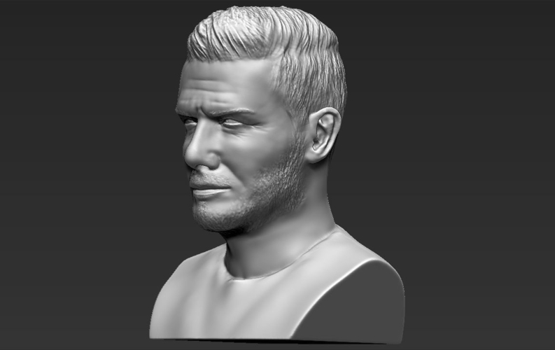 David Beckham bust ready for full color 3D printing 3D Print 231633