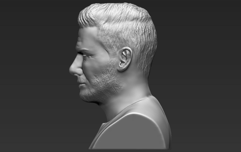 David Beckham bust ready for full color 3D printing 3D Print 231634