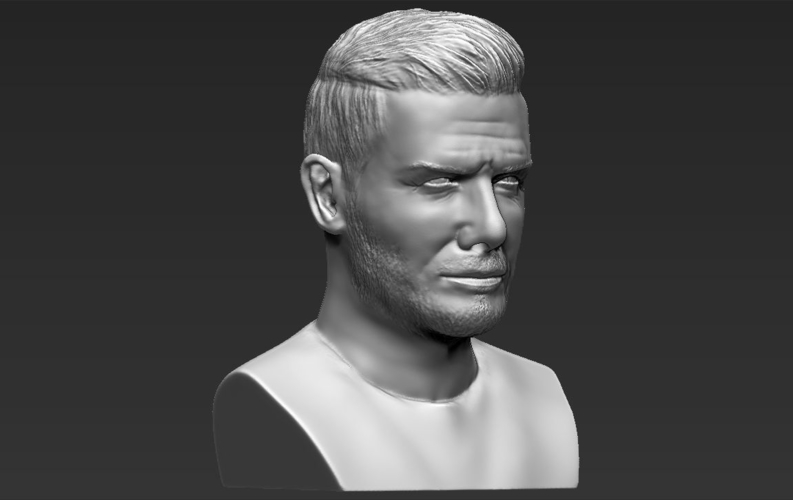 David Beckham bust ready for full color 3D printing 3D Print 231635