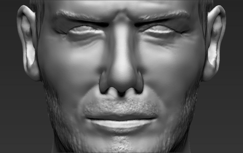 David Beckham bust ready for full color 3D printing 3D Print 231636