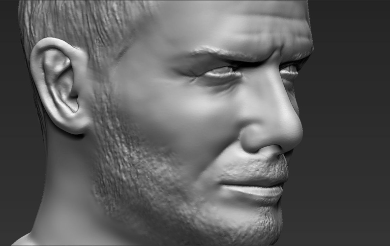 David Beckham bust ready for full color 3D printing 3D Print 231637