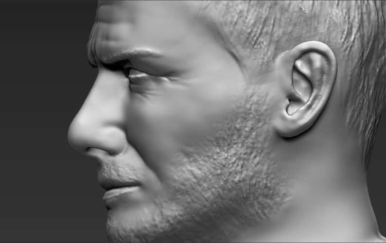David Beckham bust ready for full color 3D printing 3D Print 231638