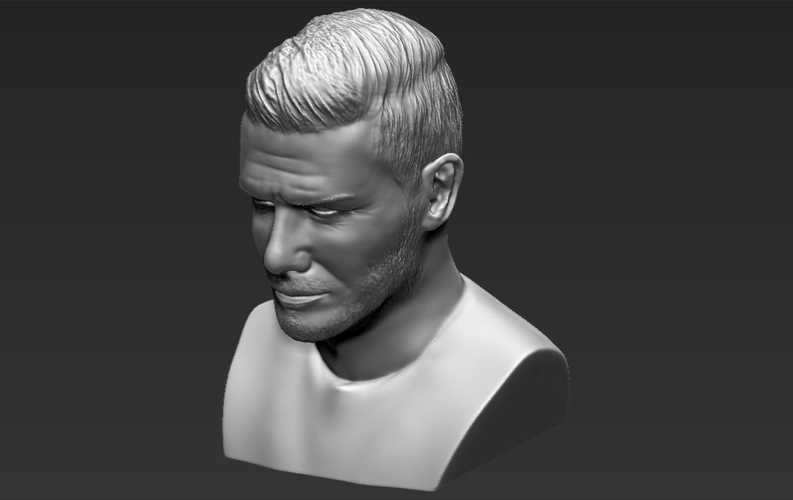 David Beckham bust ready for full color 3D printing 3D Print 231639
