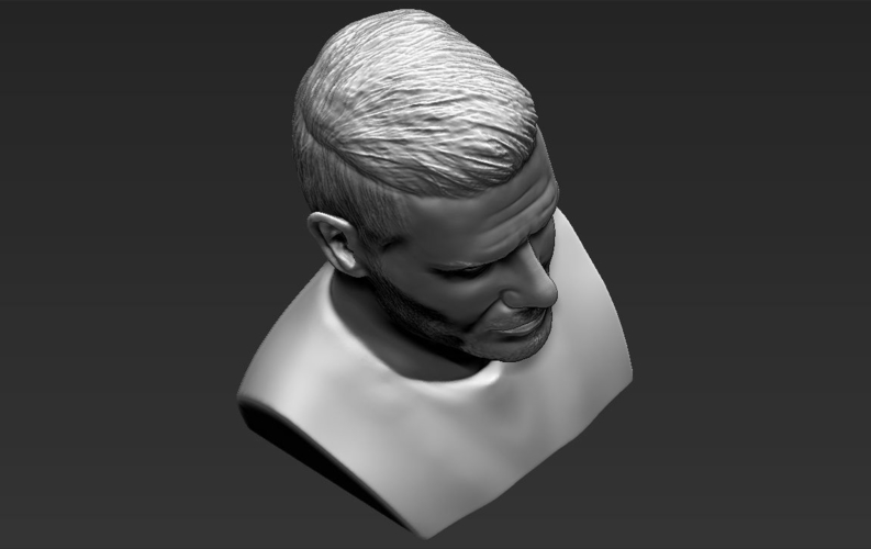 David Beckham bust ready for full color 3D printing 3D Print 231640