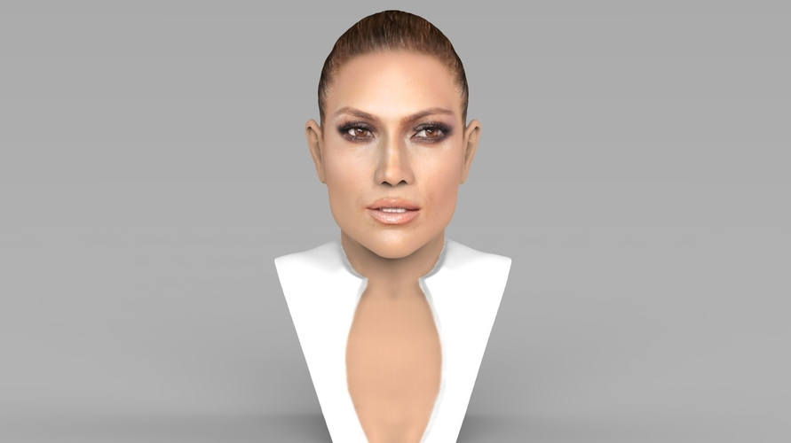 Jennifer Lopez bust ready for full color 3D printing 3D Print 231657