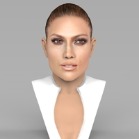 Small Jennifer Lopez bust ready for full color 3D printing 3D Printing 231657