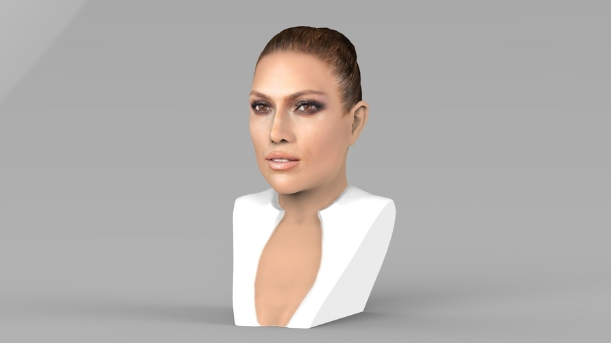 Jennifer Lopez bust ready for full color 3D printing 3D Print 231658