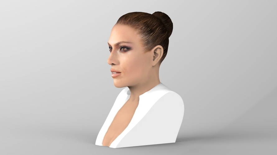Jennifer Lopez bust ready for full color 3D printing 3D Print 231659