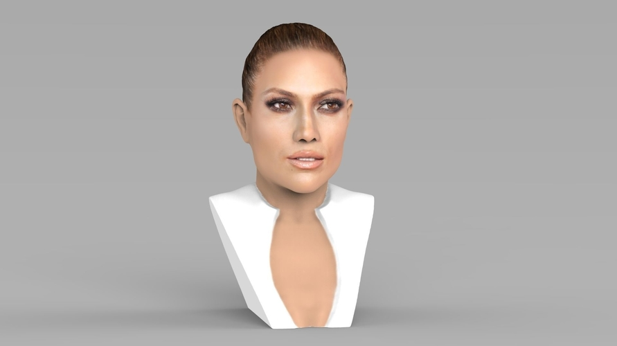 Jennifer Lopez bust ready for full color 3D printing 3D Print 231662