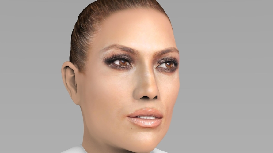 Jennifer Lopez bust ready for full color 3D printing 3D Print 231663