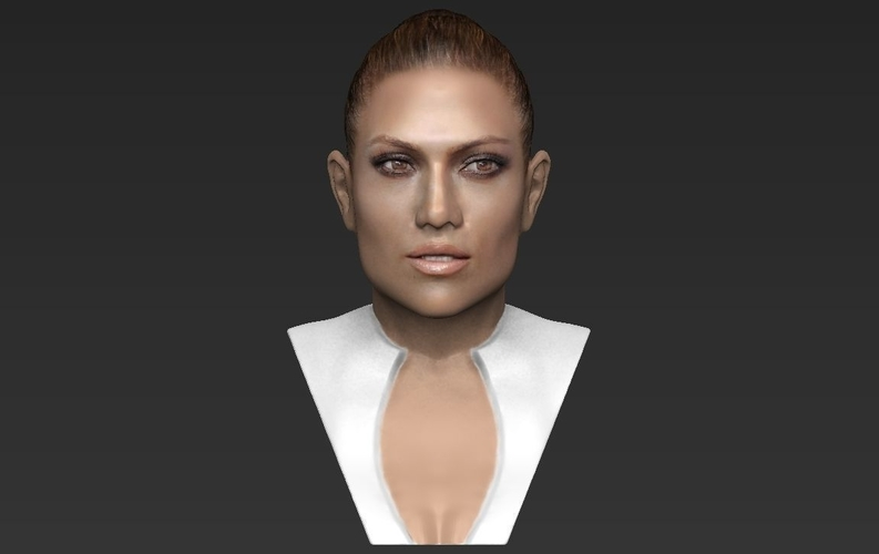 Jennifer Lopez bust ready for full color 3D printing 3D Print 231666