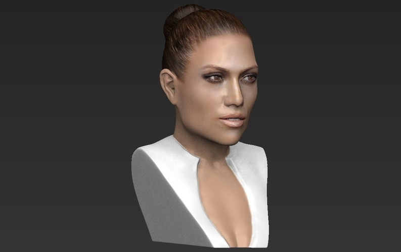 Jennifer Lopez bust ready for full color 3D printing 3D Print 231667