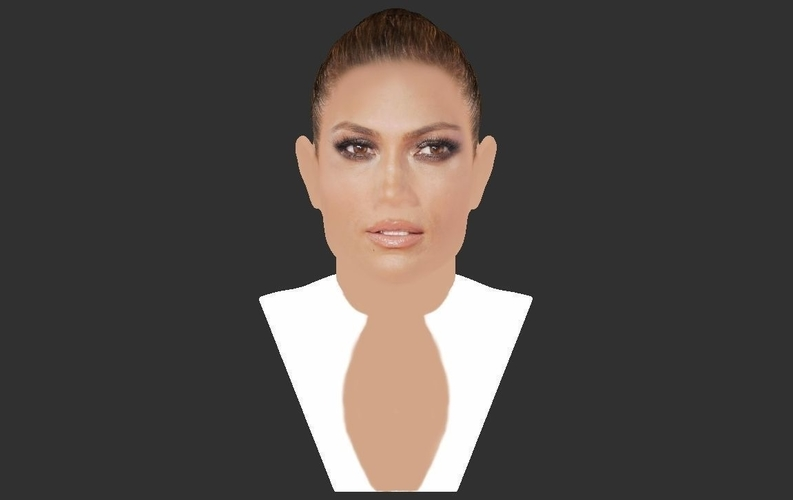 Jennifer Lopez bust ready for full color 3D printing 3D Print 231668
