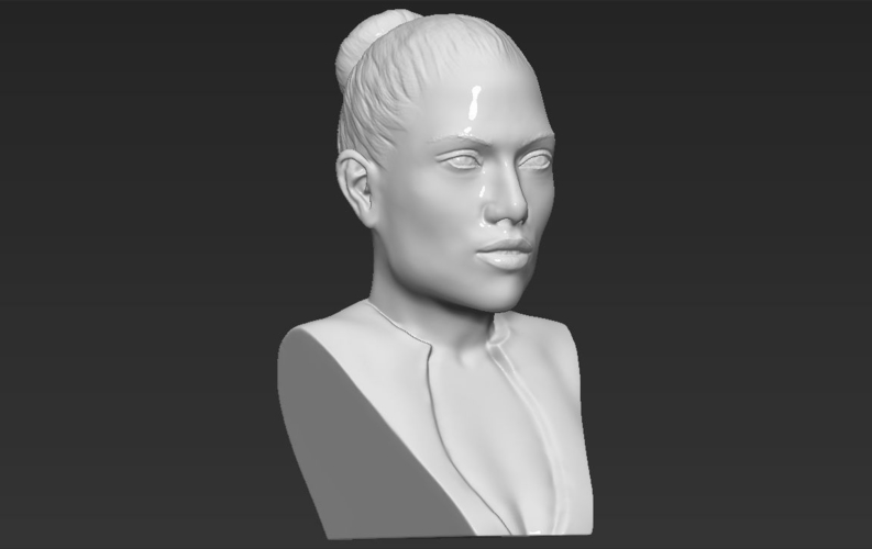 Jennifer Lopez bust ready for full color 3D printing 3D Print 231673