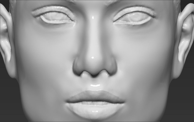 Jennifer Lopez bust ready for full color 3D printing 3D Print 231677