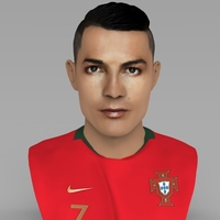 Small Cristiano Ronaldo bust ready for full color 3D printing 3D Printing 231698
