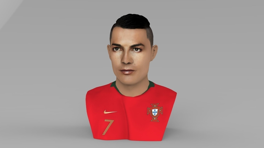 Cristiano Ronaldo bust ready for full color 3D printing 3D Print 231699