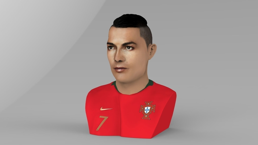Cristiano Ronaldo bust ready for full color 3D printing 3D Print 231700