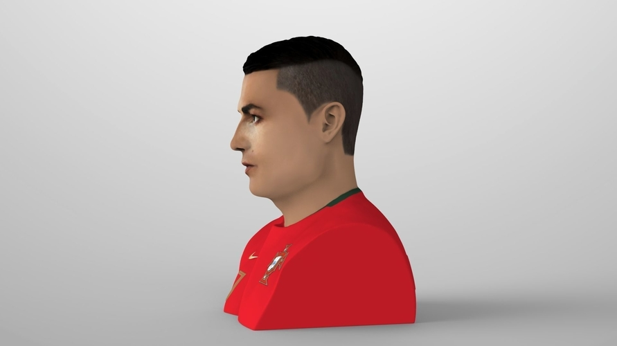 Cristiano Ronaldo bust ready for full color 3D printing 3D Print 231701