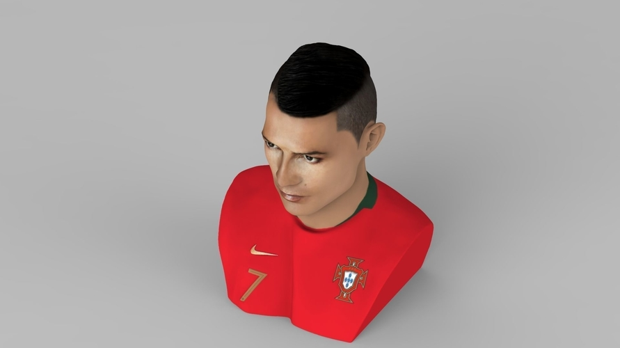 Cristiano Ronaldo bust ready for full color 3D printing 3D Print 231704