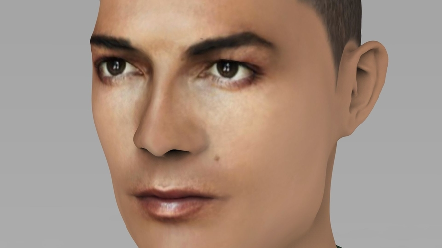 Cristiano Ronaldo bust ready for full color 3D printing 3D Print 231705