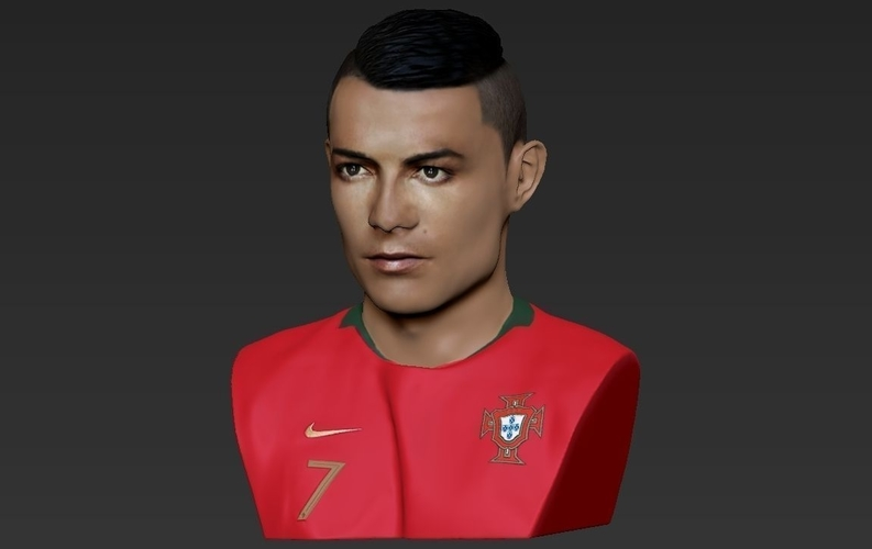 Cristiano Ronaldo bust ready for full color 3D printing 3D Print 231707