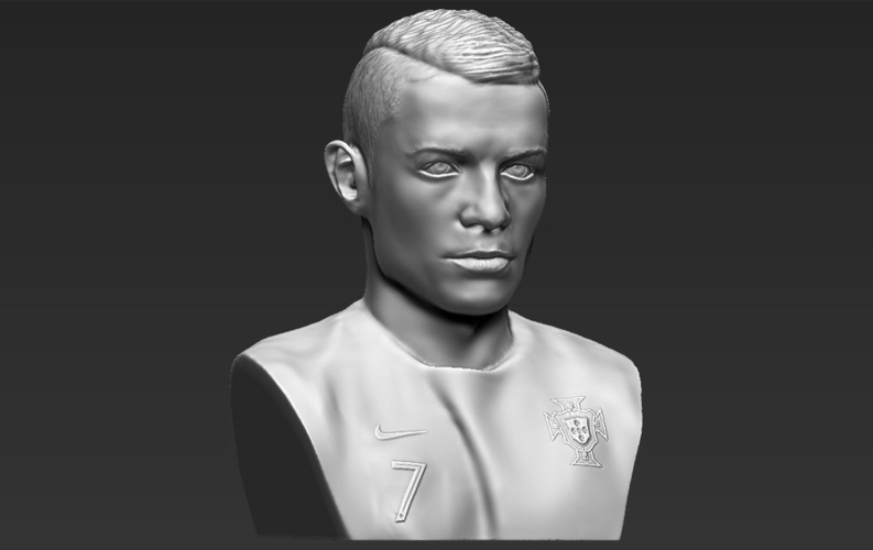 Cristiano Ronaldo bust ready for full color 3D printing 3D Print 231710
