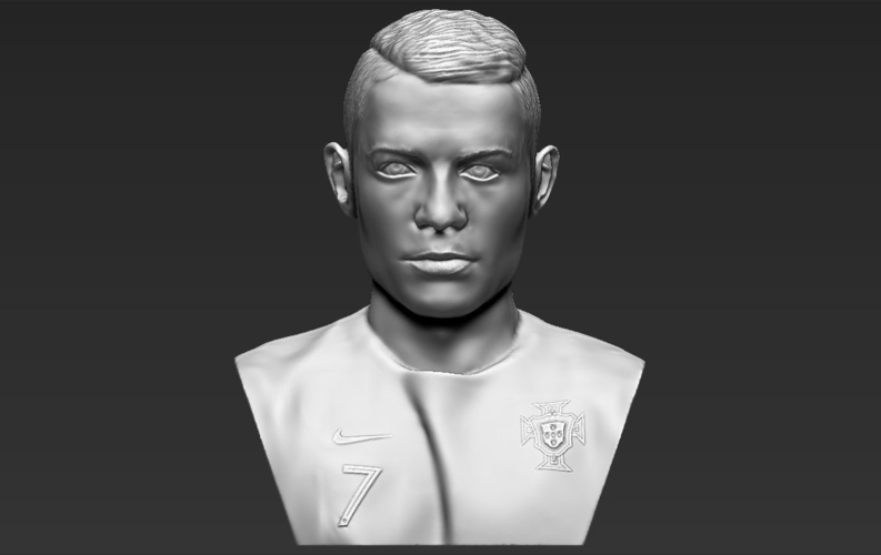 Cristiano Ronaldo bust ready for full color 3D printing 3D Print 231711