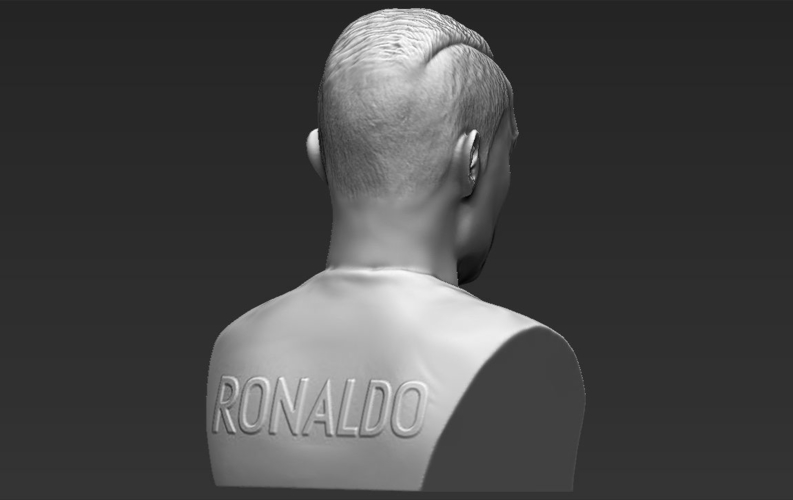 Cristiano Ronaldo bust ready for full color 3D printing 3D Print 231713