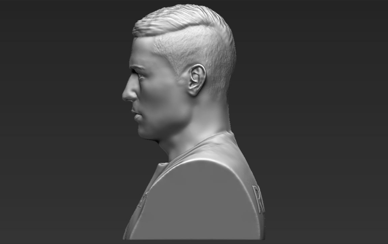 Cristiano Ronaldo bust ready for full color 3D printing 3D Print 231714