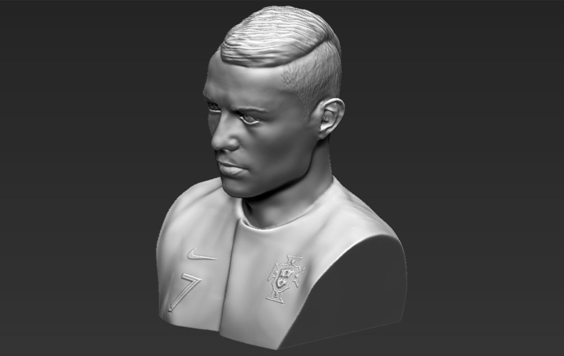 Cristiano Ronaldo bust ready for full color 3D printing 3D Print 231715