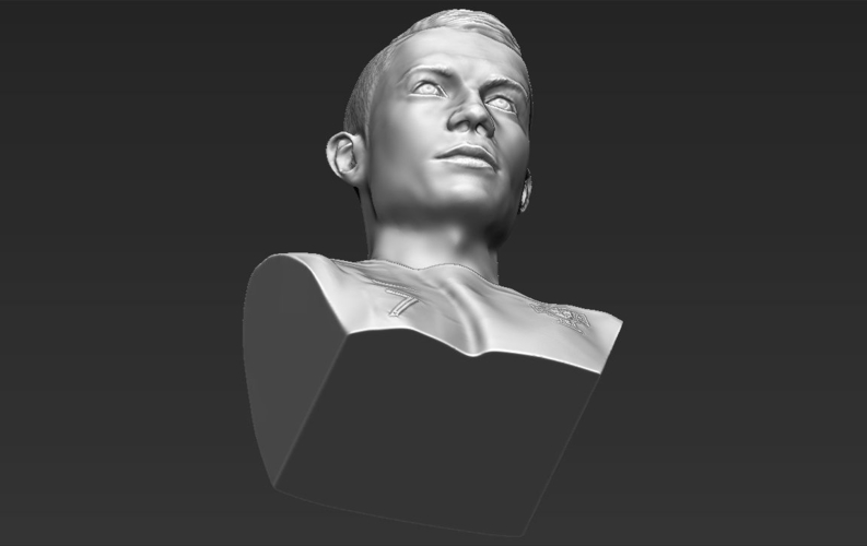 Cristiano Ronaldo bust ready for full color 3D printing 3D Print 231716