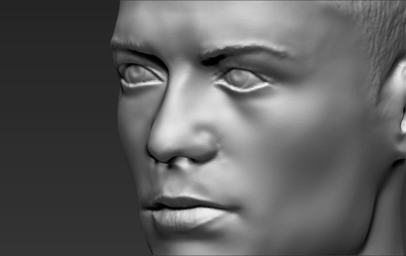 Cristiano Ronaldo bust ready for full color 3D printing 3D Print 231718