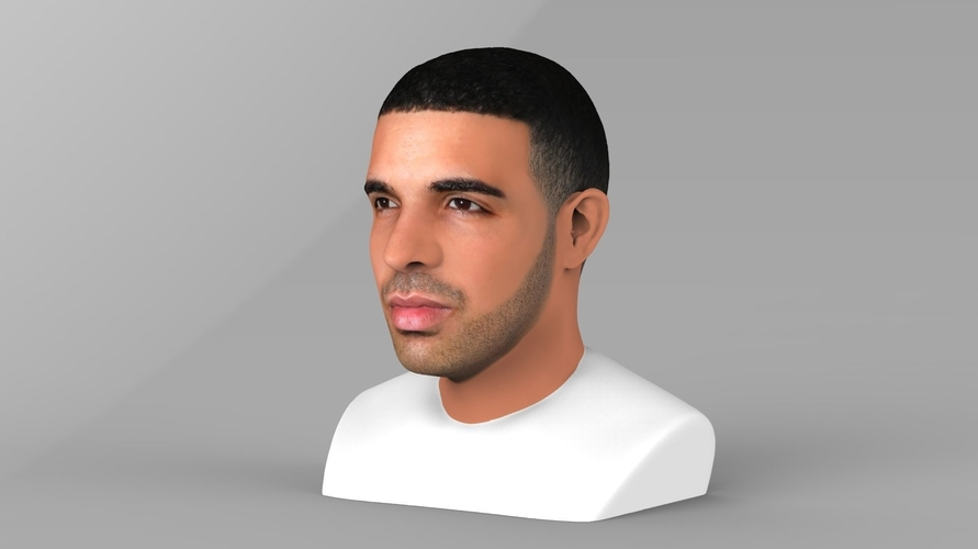 Drake bust ready for full color 3D printing 3D Print 231739