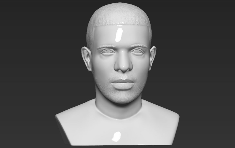 Drake bust ready for full color 3D printing 3D Print 231754
