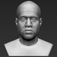 Small Kanye West bust 3D printing ready stl obj 3D Printing 231760