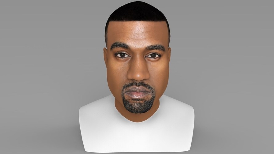 Kanye West bust ready for full color 3D printing 3D Print 231776
