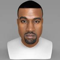 Small Kanye West bust ready for full color 3D printing 3D Printing 231776