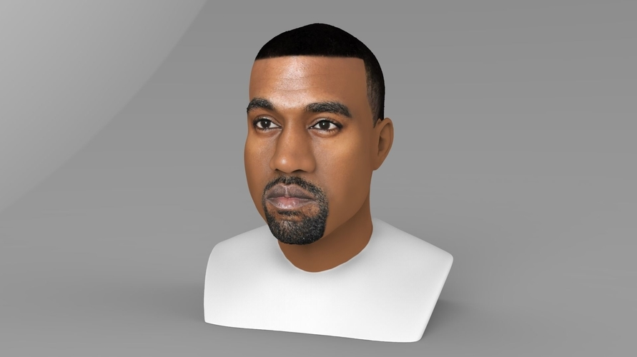 Kanye West bust ready for full color 3D printing 3D Print 231777