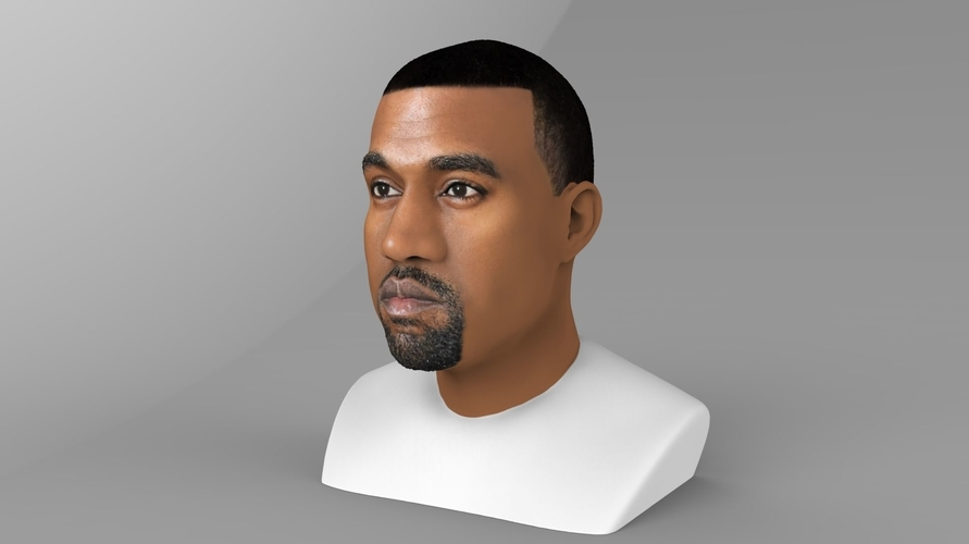 Kanye West bust ready for full color 3D printing 3D Print 231778