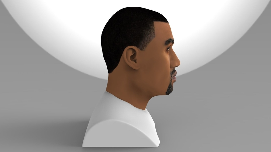 Kanye West bust ready for full color 3D printing 3D Print 231779