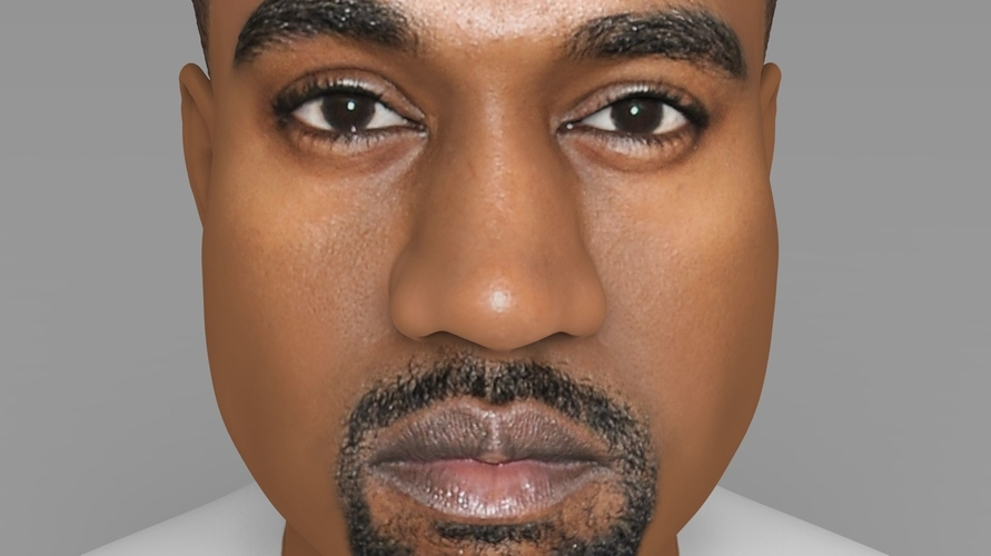 Kanye West bust ready for full color 3D printing 3D Print 231780