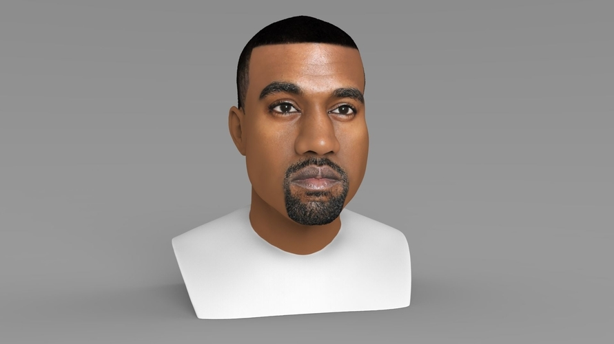 Kanye West bust ready for full color 3D printing 3D Print 231781