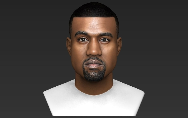 Kanye West bust ready for full color 3D printing 3D Print 231783
