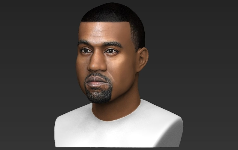 Kanye West bust ready for full color 3D printing 3D Print 231784
