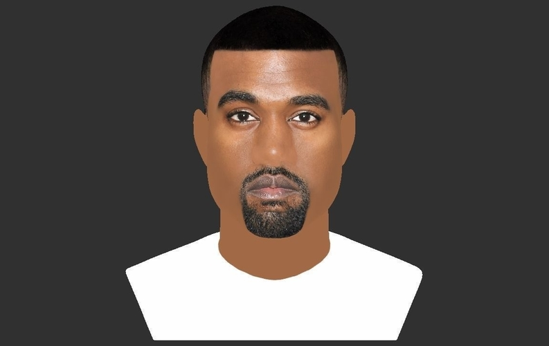Kanye West bust ready for full color 3D printing 3D Print 231785