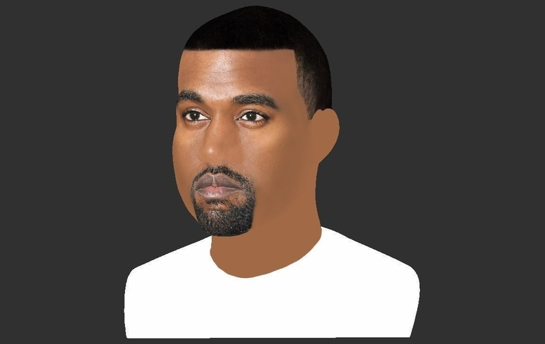 Kanye West bust ready for full color 3D printing 3D Print 231786