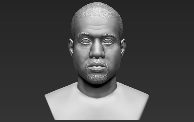 Kanye West bust ready for full color 3D printing 3D Print 231787